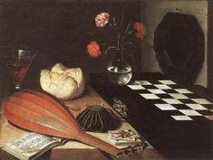 Lubin BAUGIN - Les cinq sens et l'échiquier 1630, Musée du Louvre DES VANITÉS (2) - W O D K A