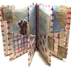 Altered Art Book / Journal Mixed Media Encaustic by SusanHopkirk, $56.00