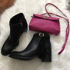 Sam edelman black fringe booties Circus by Sam Edelman brand. Gorgeous and brand new. Fringe detail on outside. Buckle round the top. Brown version currently selling full price online. Offers welcome through offer tab. No trades. Sam Edelman Shoes Ankle Boots & Booties