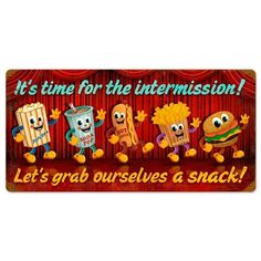 Intermission Snacks | Movie Theatre where two movies, a news reel and cartoons would be showing. there would be a ten minute intermission between films.