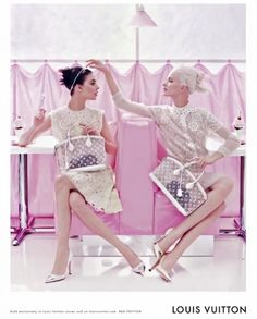 #steven_meisel louisvuitton,springsummer2012,new campaign,sweet,sugar,pale,green,blue,pink,rose,jaune,yellow,broderies,cupcakes,pastel,colors,sweet,fun,pink,tearoom,