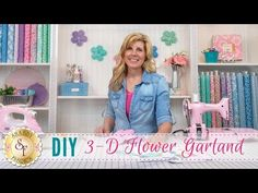 Turn Your Scrap Fabric Into A Beautiful 3-D Flower Garland! - 24 Blocks