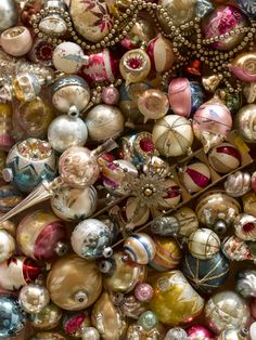 Taking a cue from the Victorian era, the 1950s brought a modernized take on glass balls. Found in the shapes of teardrops and spheres, the baubles were often a poppy pastel colors — to match their aluminum Christmas trees.
