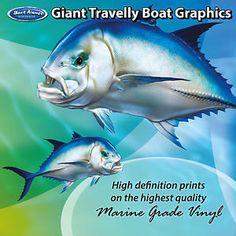 Cartoon Snapper Graphics set of 250mm Boat Graphics