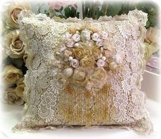 Pretty shabby pillow