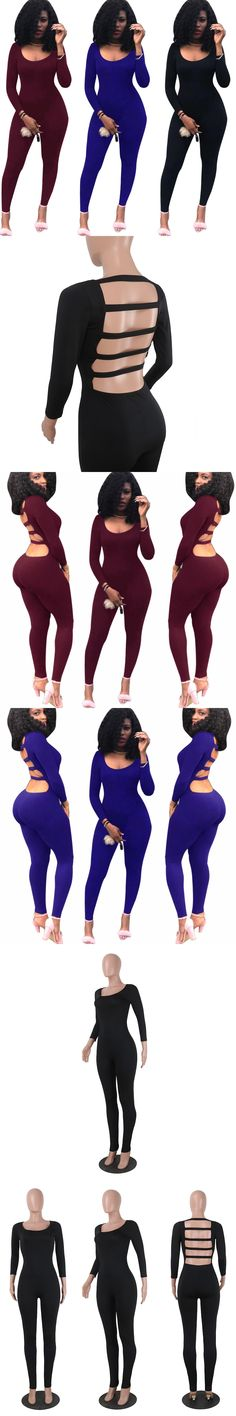 VAZN 2017 Hot Fashion Sexy Bodycon Women Set Summer Backless Costume Solid  Casual Night Club Rompers K8338