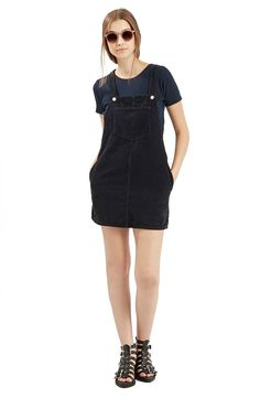 Moto Corduroy Pinafore Dress