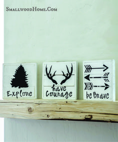 Be Brave, Have Courage, Explore - Set of Three - Smallwoods
