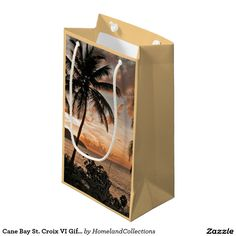 Cane Bay St. Croix VI Gift Bag Small Gift Bag -Wedding Gift Bags for the Bride or Bridal party -  #weddings #stcroixweddings #viginislands