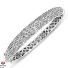 Jet NissoniJewelry presents - Ladies Diamond Bangle in 14K White Gold with 4.62CT Diamonds    Model Number:UB7355BW-2    https://jet.com/product/Ladies-Diamond-Bangle-in-14K-White-Gold-with-462CT-Diamonds/81794d37d1724c50900b9054955633b7