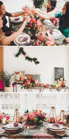 Gorgeous Floral Bridal Shower Inspiration | Pizzazzerie.com
