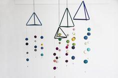 DIY: Mobile with straws and felt balls by Søstrene Grene
