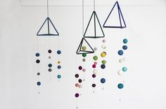 DIY: Mobile with straws and felt balls by Søstrene Grene