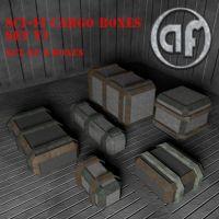 Set of 6 heavy duty cargo boxes