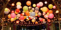 Loving this big mass of lanterns.