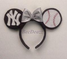 MLB New York Yankees  Minnie Mouse Ears headband on Etsy, $25.00