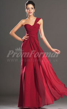 One Shoulder Floor-length Prom Dresses:Sheath One Shoulder 100D Chiffon Long Prom Dress PRJT04-1423