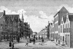 prent uit de 18de eeuw Gouda, Street View, Painting, Painting Art, Paintings, Painted Canvas, Drawings