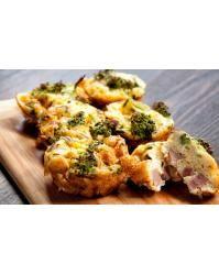 Mini šunkové a brokolicové Frittatas