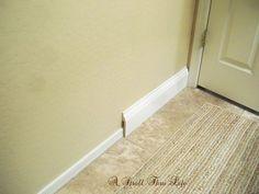 Install Wide Baseboard Molding Over Existing Narrow for Bathroom Floor Molding Ideas - Best Home & Party Decoration Ideas Bathroom Baseboard, Baseboard Styles, Baseboard Molding, Floor Molding, Moldings And Trim, Crown Molding, Baseboards, Bathroom Flooring, Hall Bathroom