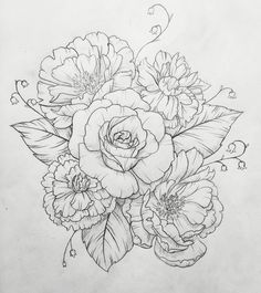Peony tattoo. Contact me for custom drawings clairestokes93@yahoo.com Or check out my Instagram clairestewart25. Plus my etsy is where it's at! link to my store: https://www.etsy.com/listing/269477486/custom-drawingtattoo-design