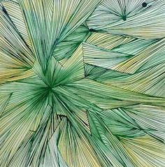 "Saatchi Art Artist Christina Weiss; Painting, ""Grüne Linien"" #art"