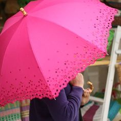 pink eyelet umbrella. need this!