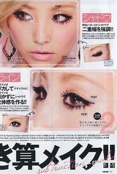 Gyaru make-up magazine scan