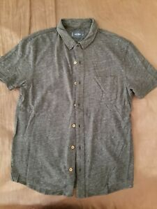 Denim Button Up, Button Up Shirts, Dresses For Less, Collar Styles, Lucky Brand, Charcoal, Men Casual, Mens Tops, Closet