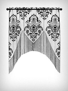 Batty Skulls Lace Window Valence by Heritage Lace, Home Decor, Black Lace Valances, Lace Window, Gothic House, Gothic Mansion, Kitchen Witch, Dream Bedroom, Bedroom Black, Master Bedroom, Window Coverings