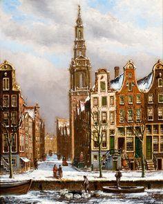 Fantasy Landscape, Winter Landscape, Landscape Art, Winter Painting, Winter Art, Amsterdam Art, Perspective Art, Medieval Life, Call Art