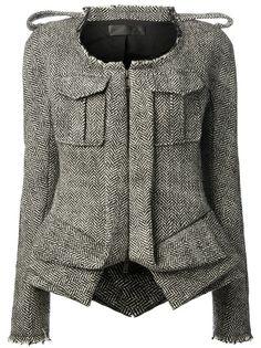 HAIDER ACKERMANN Herringbone Print Jacket