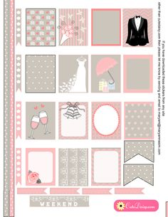 Wedding themed Stickers for Erin Condren Life Planner