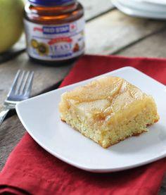 Ginger Apple Upside Down Squares- FoodBabbles.com