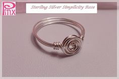 'Sterling Silver Simplicity Rose Ring ' is going up for auction at  8pm Fri, Aug 3 with a starting bid of $5.