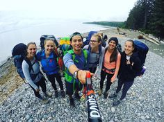 Hiking the Juan de Fuca trail in BC with friends