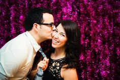 14 Photo Booth Ideas For Your Next Party: DIY Tinsel Garland Backdrop