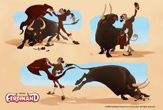 Character Designs do filme Ferdinand, por Sergio Pablos e Sang Jun Lee   THECAB - The Concept Art Blog