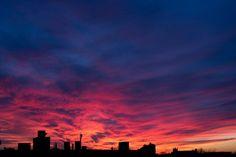 Sunset sky over Cambridge