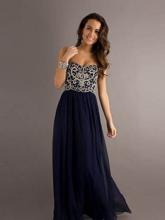 Gorgeous Sheath/Column Floor-length Applicues Strapless Prom Dress