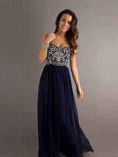 Gorgeous Sheath/Column Floor-length Applicues Strapless Prom Dress
