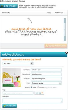 Olioboard.com - create moodboards to decorate rooms in your home just as designers do, plus browse items for your home