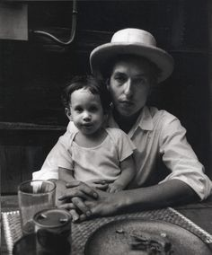 "myfotolog: "" Bob Dylan holding his son Jesse, photographed by Elliott Landy, 1968 """