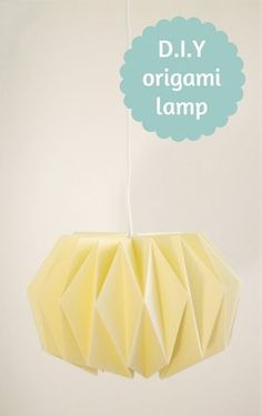 DYI Origami Lamp Shade There is a link to a pdf in English with illustrated instructions Posted by Maricke Ooms (Dutch). She sells thing through Indie-ish and three other sites work-and-process: Weekend D.Y - Origami lampenkap Origami And Kirigami, Origami Paper Art, Paper Crafts, Diy Crafts, Diy Hacks, Luminaria Diy, Origami Lampshade, Paper Lampshade, Deco Luminaire