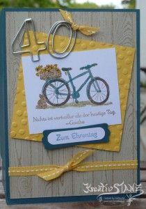 Geburtstagskarte mit Fahrrad Stampin' Up!