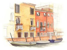 Venice Italy Painting Archival Print  Venice by AliciasInfinity, $25.00