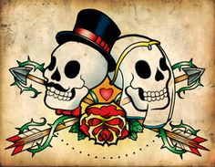 Day of the Dead Wedding Design by scumbugg