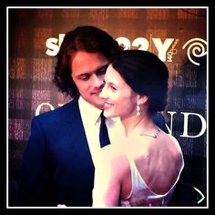 Caitriona and Sam at @Outlander_Starz @92y event.