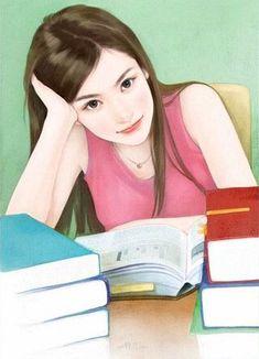 chinese girl y Cartoon Girl Images, Girl Cartoon, Cartoon Art, Girl Drawing Sketches, Cute Girl Drawing, Chinese Drawings, Chinese Art, Cute Pastel Wallpaper, Lovely Girl Image