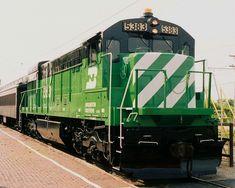 Burlington Northern Railroad ~ Reminds me of home.